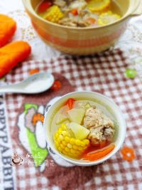 美味的朋友#红萝卜玉米雪莲果猪骨汤的做法步骤6