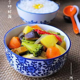 咖喱豆干炒时蔬