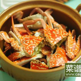 香蒜焗花蟹