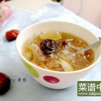 红枣银耳百合汤