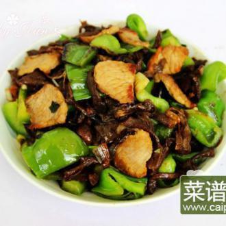青椒榛蘑炒肉片