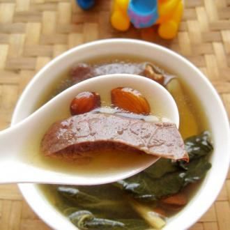 杏仁猪肺菜干汤