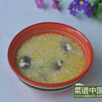 酒酿蛋煮紫薯糍粑