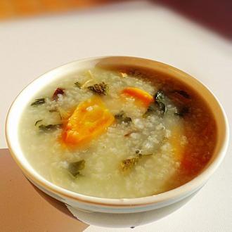 菜干红萝卜粥