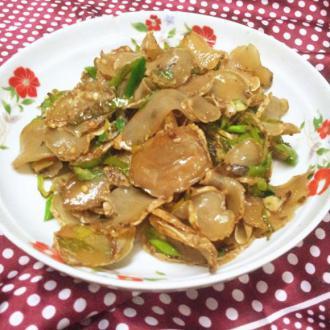 青椒炒干土豆片