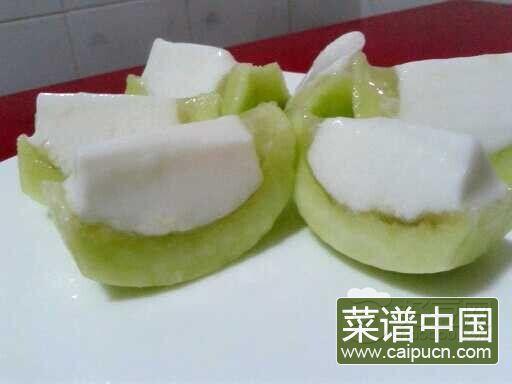香瓜椰奶冻