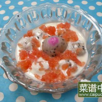 火龙果红柚酸奶