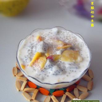 双果酸奶西米露