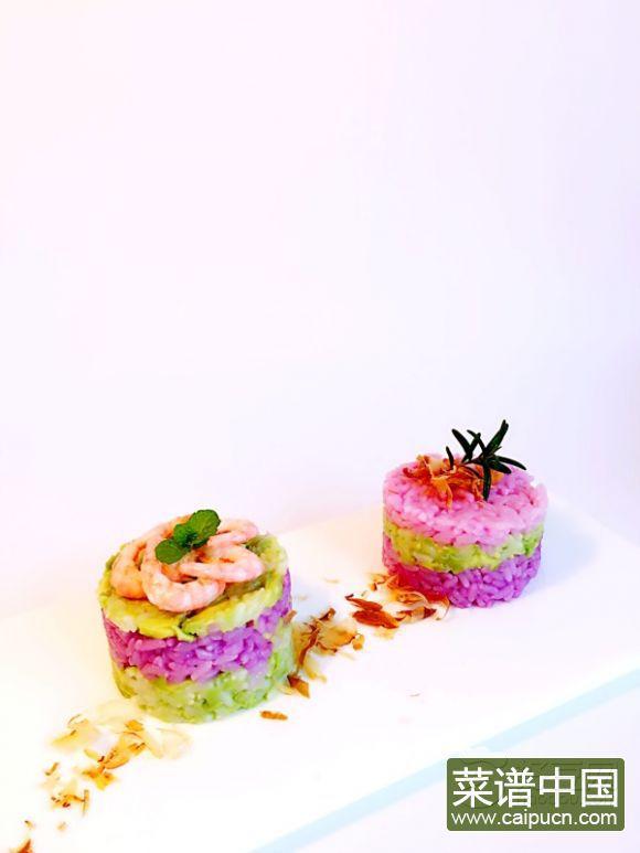 牛油果紫甘蓝寿司饭