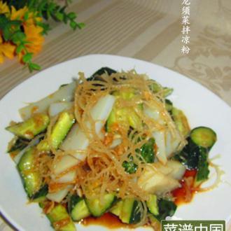 龙须菜拌凉粉