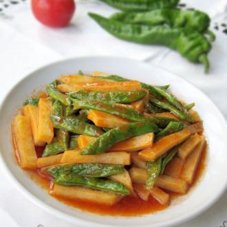 茄汁焖土豆四季豆