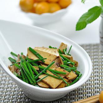 韭香豆干——下酒菜