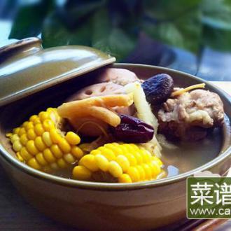玉米莲藕脊骨药膳汤