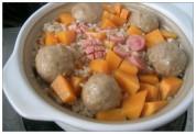 锅仔牛肉丸焖饭的做法步骤6