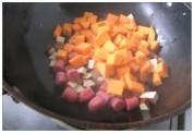 锅仔牛肉丸焖饭的做法步骤4