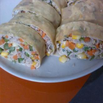 胡萝卜玉米腐皮卷
