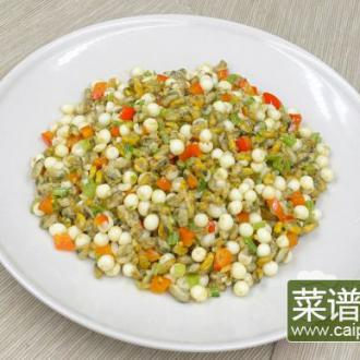 雪菜芡实炒薄壳米
