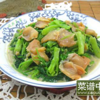 凉拌赤贝菠菜