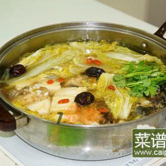 白菜鱼头火锅
