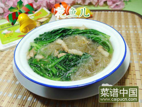 猪肉粉丝煮蒿菜