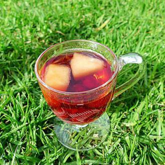 青苹果玫瑰花茶