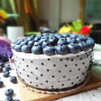 蓝莓慕斯蛋糕