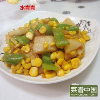 玉米炒白薯