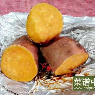 锡纸烤白薯