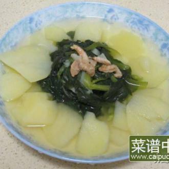 毛菜土豆虾米汤