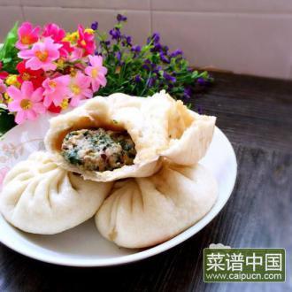 马兰头香菇肉包