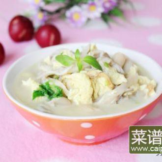 荆芥蘑菇鸡蛋汤