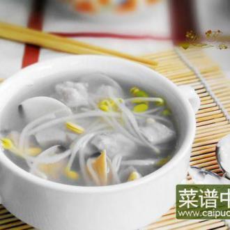 豆芽香芋白贝汤
