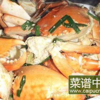 姜葱焗肉蟹