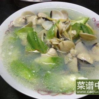 姜丝白贝丝瓜汤