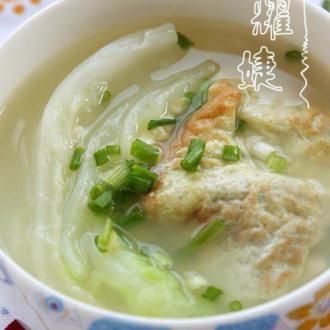白菜鸡蛋浓汤