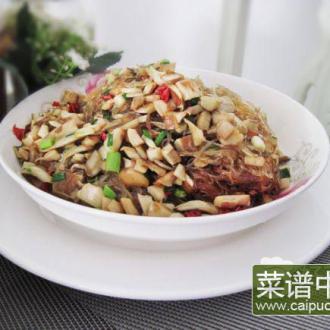 猪肚菇炒粉丝