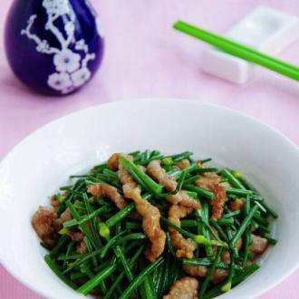 猪肉丝炒韭苔