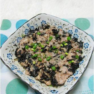 紫菜蒸肉饼