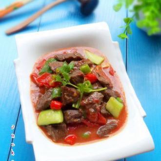 番茄牛肉粒