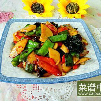 少油杂蔬杏鲍菇