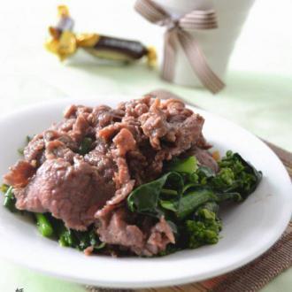 蚝油牛肉芥蓝菜