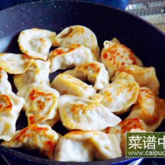 平底锅煎饺子