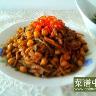 鹰嘴豆素炒萝卜丝
