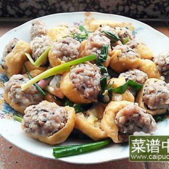 肉丸瓤炸豆腐