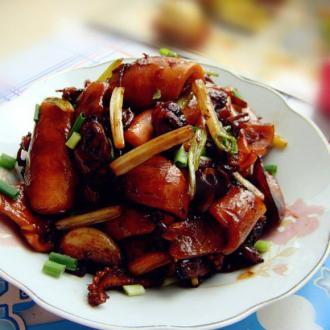 干鱿鱼炒蛤蜊肉
