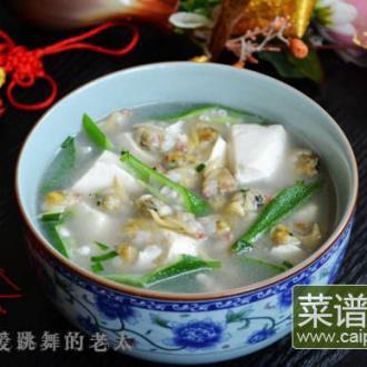 秋葵蛤蜊豆腐汤