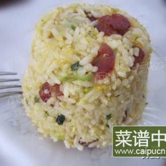 腊肠蛋炒饭