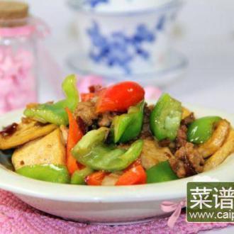 双椒烩豆腐