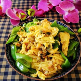 蛤肉辣椒炒鸡蛋