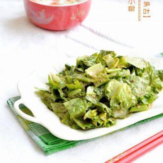 麻汁莴笋叶
